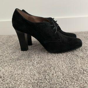 Geox Black Suede Heels/Boots.